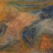 Fresko-Spachteltechnik, Kaseinmalerei 140 x 74 cm, © Frank Komosz